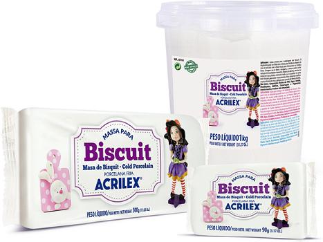 Massa para Biscuit Rosa Acrilex  - Minas Midias