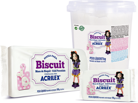 Massa para Biscuit Rosa Escuro Acrilex  - Minas Midias