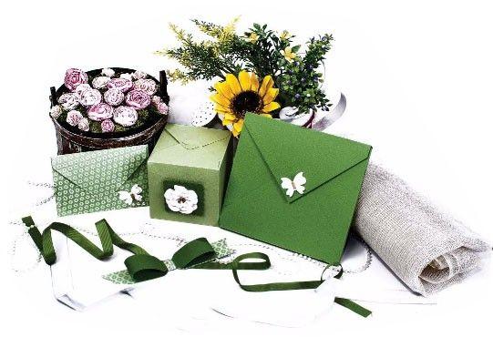 Mini Base Criativa 3 em 1 - Caixas, Laços e Envelopes  - Minas Midias