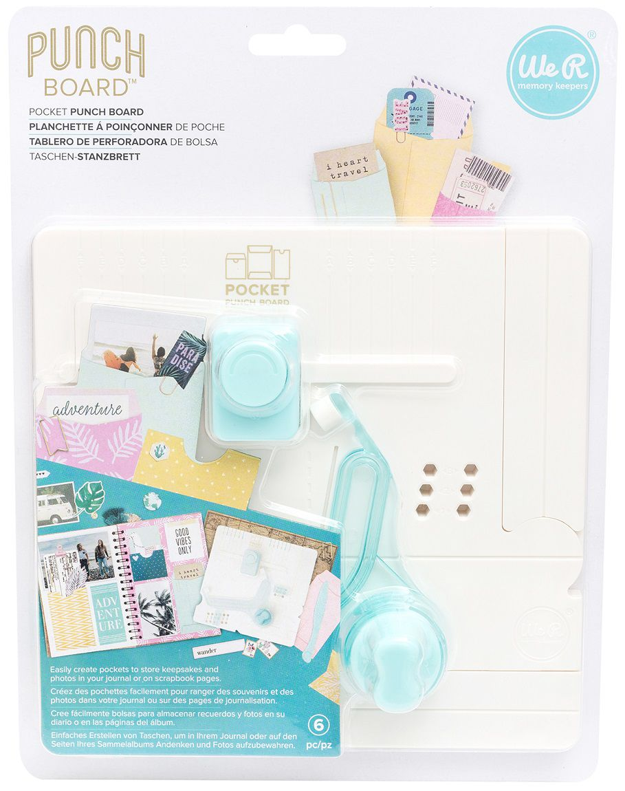 Mini Base Criativa Bolsinhos - Pocket Maker Punch Board WER  - Minas Midias