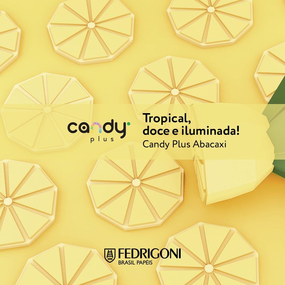 Papel Candy Plus 180g A4 Abacaxi - amarelo claro  - Minas Midias