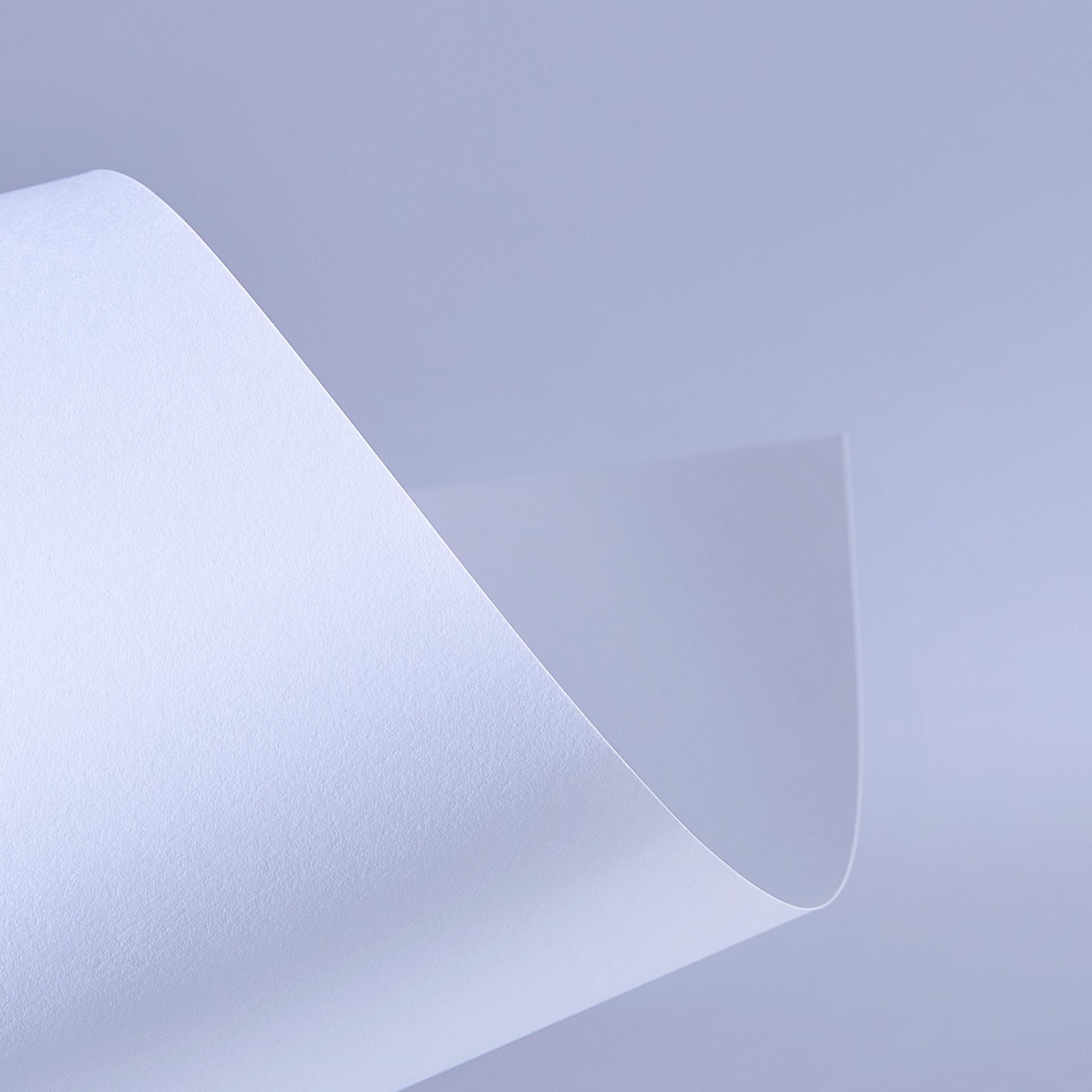 Papel Color Plus 180g 30,5 x 30,5 cm Alaska - Branco  - Minas Midias