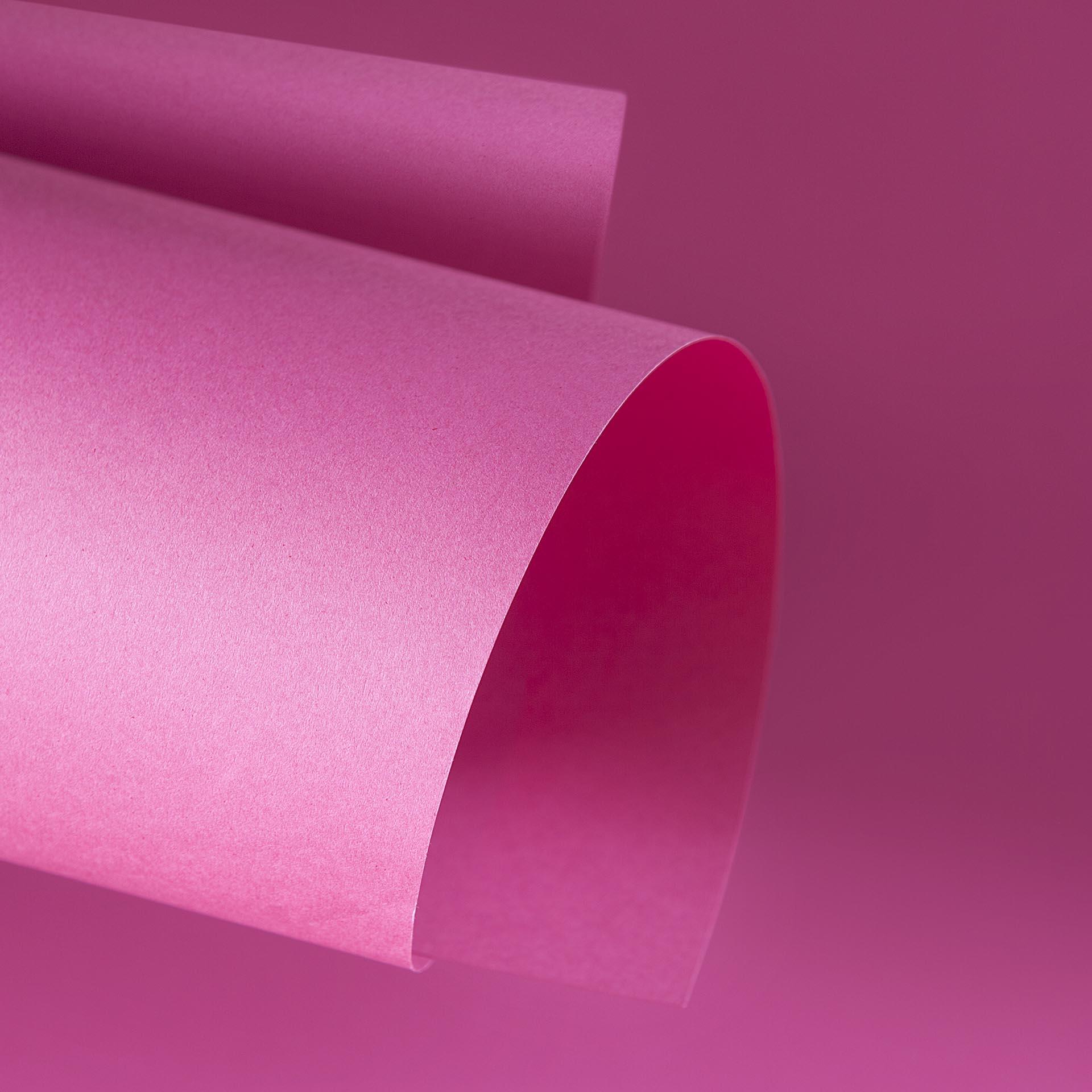 Papel Color Plus 180g 30,5 x 30,5 cm Cancun - Rosa Pink  - Minas Midias