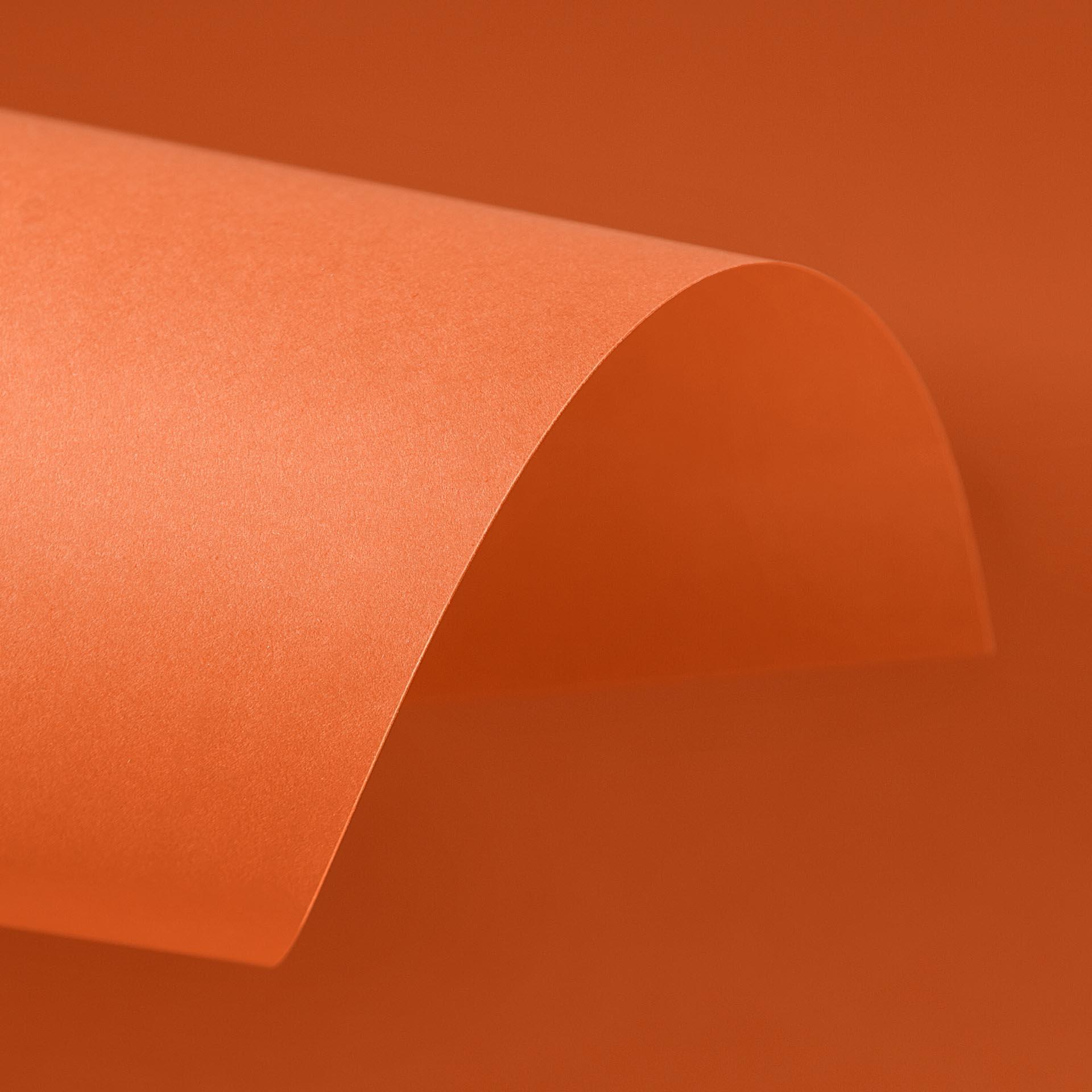 Papel Color Plus 180g 30,5 x 30,5 cm Cartagena - Tangerina  - Minas Midias