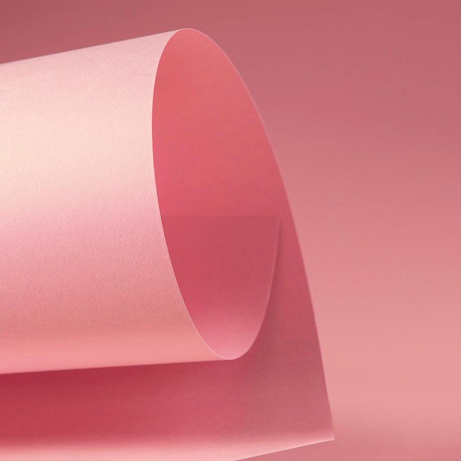 Papel Color Plus 180g 30,5 X 30,5 cm Fidji - Rosa Chá  - Minas Midias
