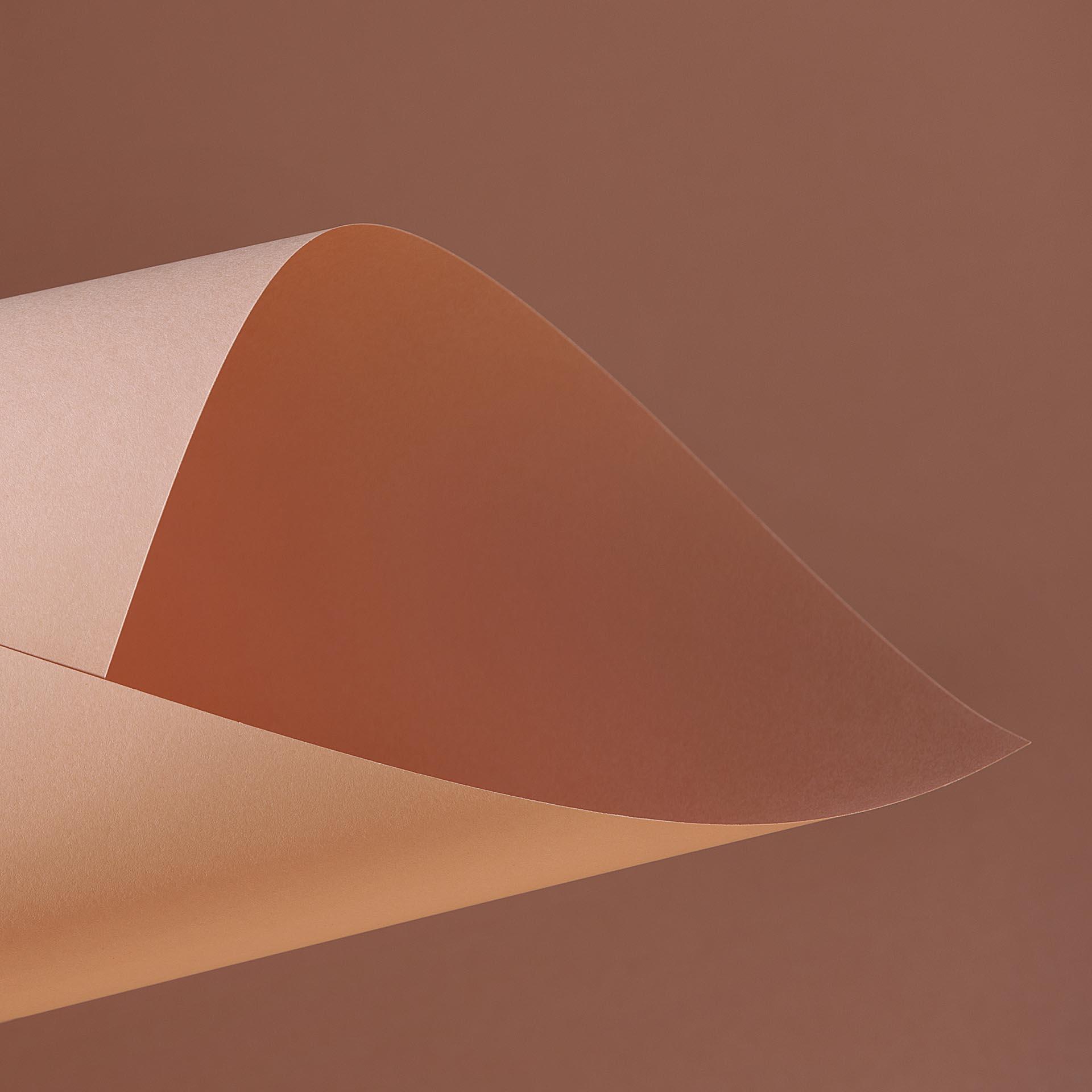 Papel Color Plus 180g 30,5 X 30,5 cm Madrid - Salmão  - Minas Midias