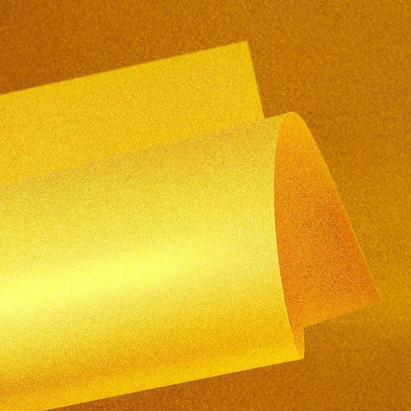 Papel Color Plus Metalizado 180g A4 Noronha - Amarelo Metalizado  - Minas Midias