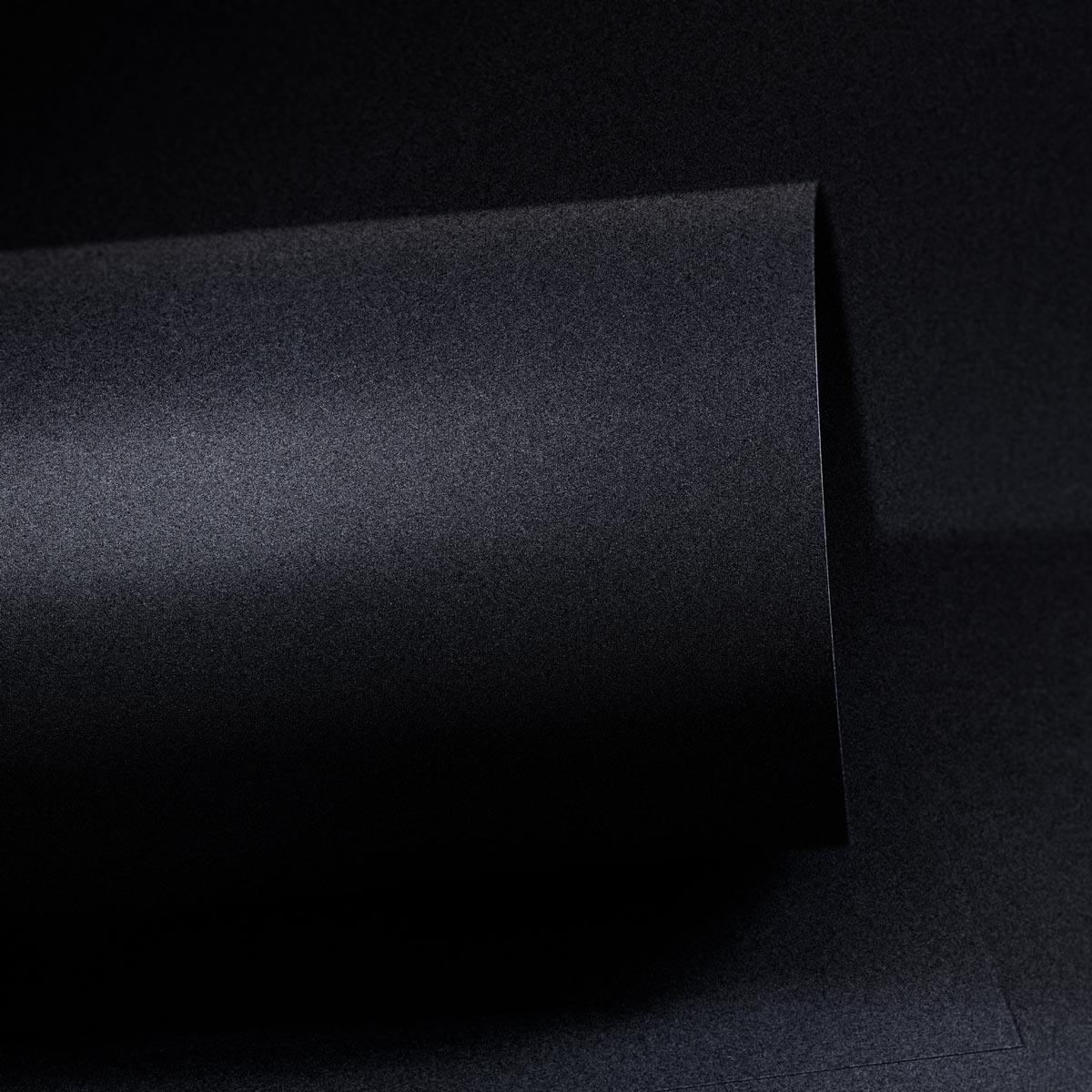 Papel Color Plus Metalizado 180g A4 Oxford - Preto Metalizado  - Minas Midias