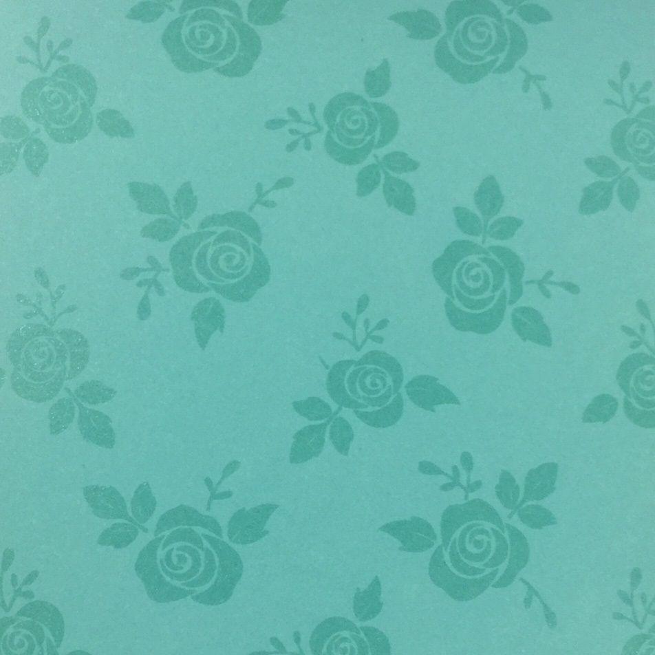 Papel Decorado Aruba Rosas 30,5 x 30,5cm  - Minas Midias
