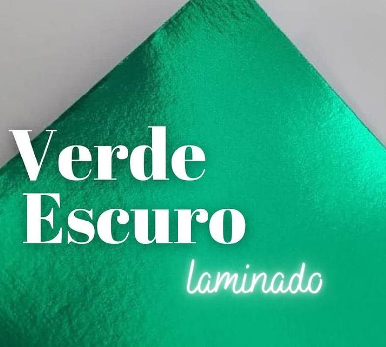 Papel Laminado Verde Escuro 180g A4  - Minas Midias