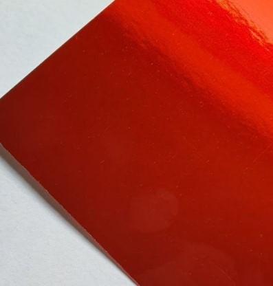 Papel Laminado Vermelho 250g A4  - Minas Midias