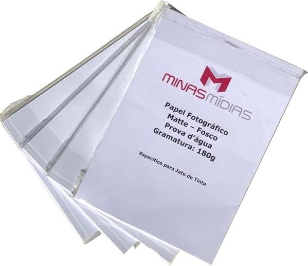 Papel Matte A4 180g  - Minas Midias