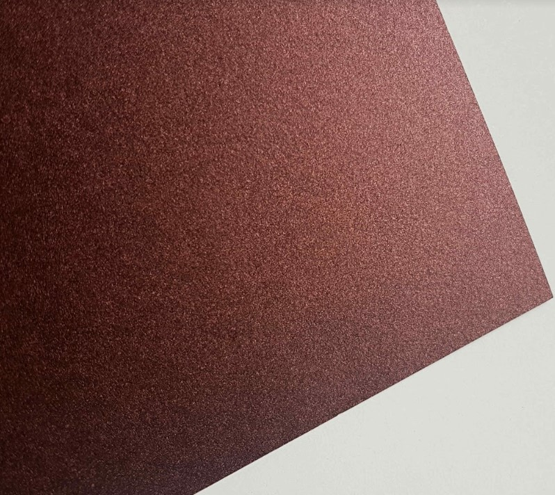 Papel Perolizado Color Marsala 180g A4  - Minas Midias