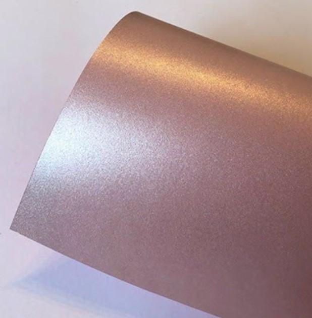 Papel Perolizado Color Rose 180g A4  - Minas Midias