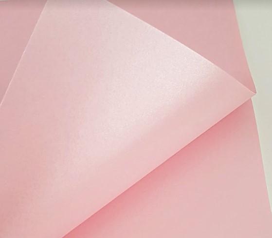 Papel Perolizado Liso Rosa 180g A4  - Minas Midias