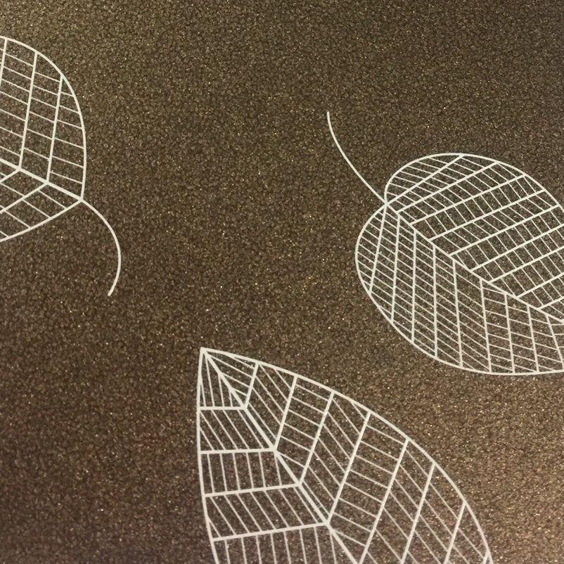 Papel Relux Decorado Folhas Café 180g 30,5 x30,5cm  - Minas Midias