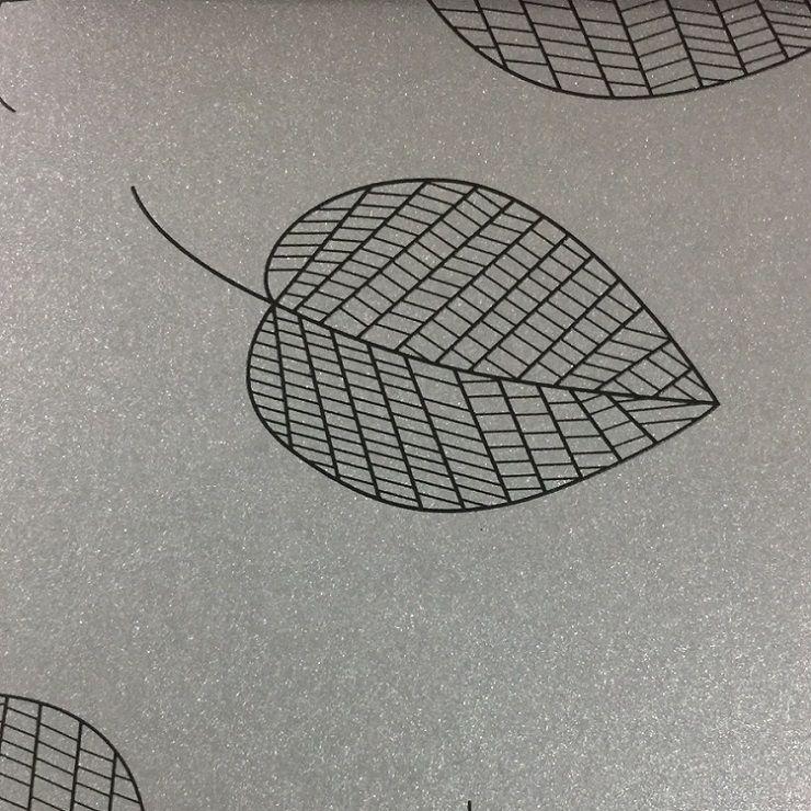Papel Relux Decorado Folhas Platino 180g 30,5 x30,5cm  - Minas Midias