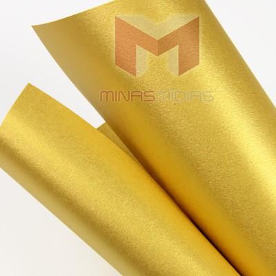 Papel Relux Sparkle Maxi Gold 180g 30,5 x 30,5cm  - Minas Midias