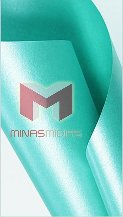 Papel Relux Turquesa 180g A4  - Minas Midias
