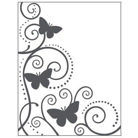 Placa para Relevo 2D Borboleta e Videira 107 x 139mm  - Minas Midias