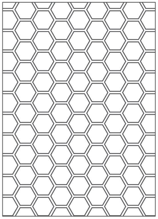 Placa para Relevo 2D Colméia 127 x 177mm  - Minas Midias