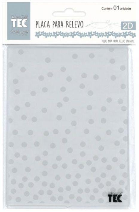 Placa para Relevo 2D Confete 75 x 127mm  - Minas Midias