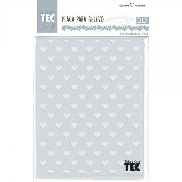 Placa para Relevo 2D Corações 127 x 177mm  - Minas Midias