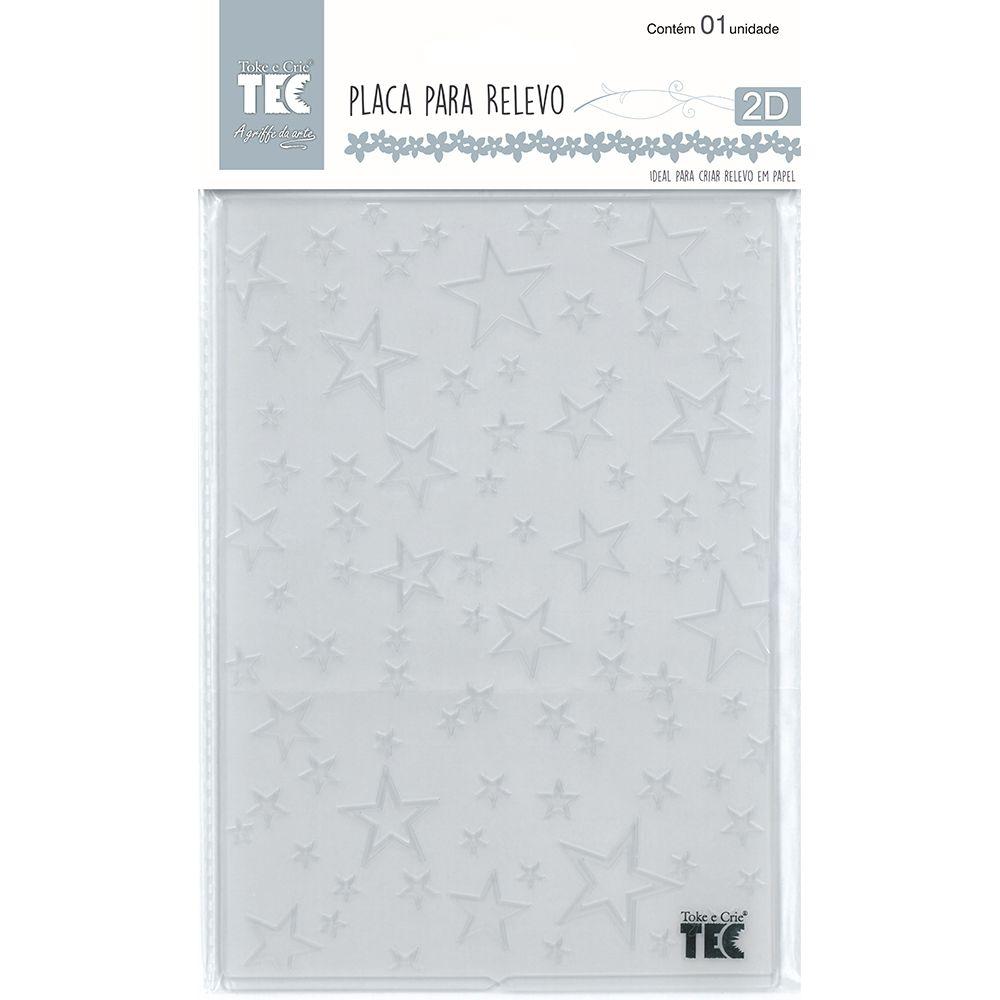 Placa para Relevo 2D Estrelas 127 x 177mm  - Minas Midias
