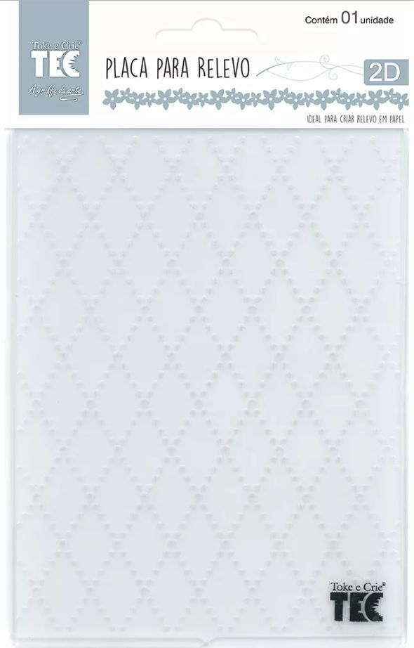 Placa para Relevo 2D Losango 107 x 139mm  - Minas Midias