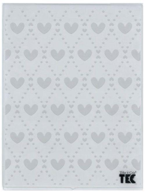 Placa para Relevo 2D Mini Corações 75 x 127mm  - Minas Midias