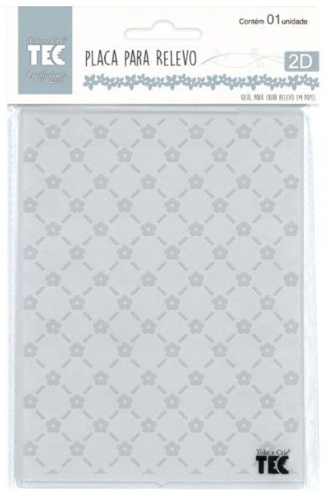 Placa para Relevo 2D Mini Flores 75 x 127mm  - Minas Midias