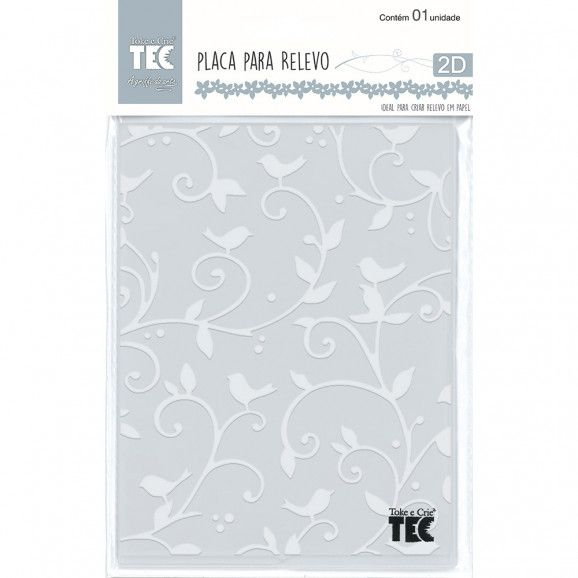 Placa para Relevo 2D Pássaros 107 x 139mm  - Minas Midias