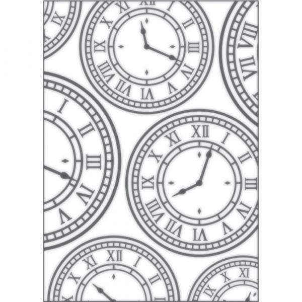 Placa para Relevo 2D Relógio Vintage 127 x 177mm  - Minas Midias