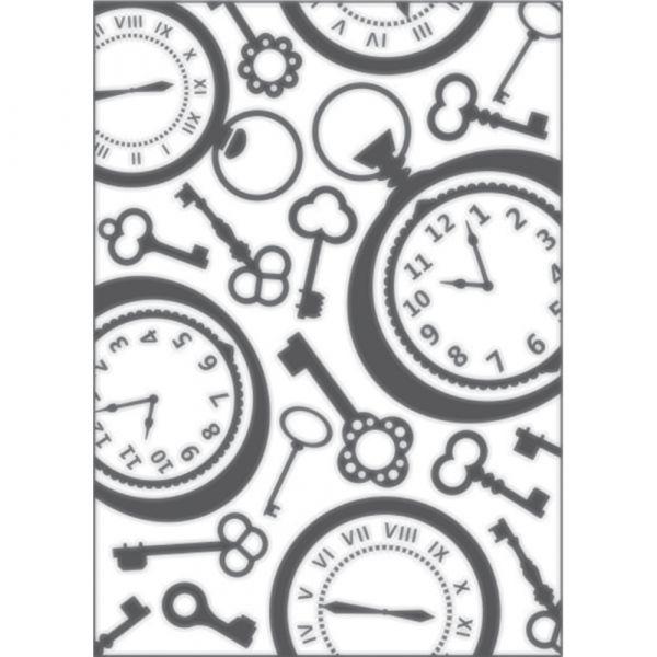 Placa para Relevo 2D Relógio Vintage II 127 x 177mm  - Minas Midias