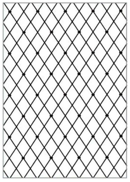 Placa para Relevo A4 2D Losango 210x297mm  - Minas Midias