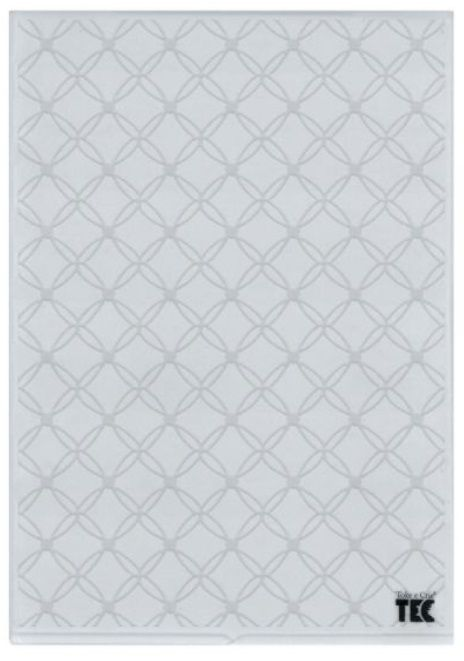 Placa para Relevo A4 2D Trama de Folhas 210x297mm  - Minas Midias