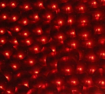 Placa de EVA Metálico Círculo Vermelho 3D  - Minas Midias