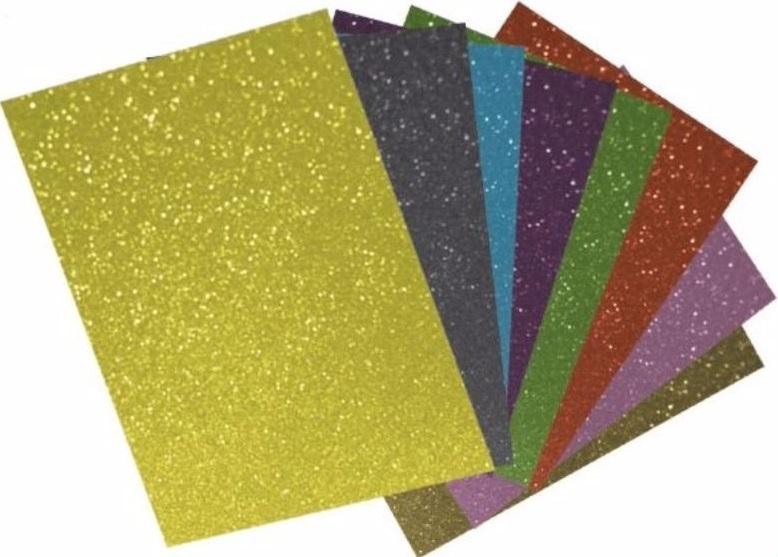 Placa de EVA com Glitter Neon  - Minas Midias