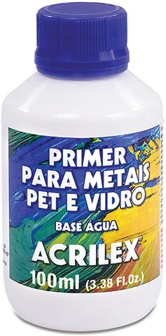 Primer para Metais, PET e Vidro 100ml Acrilex  - Minas Midias