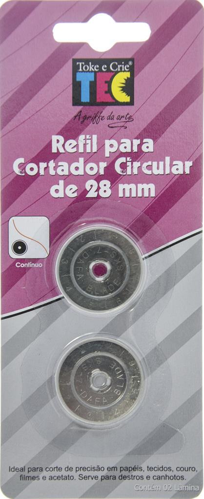 Refil para Cortador Circular Continuo 28mm  - Minas Midias