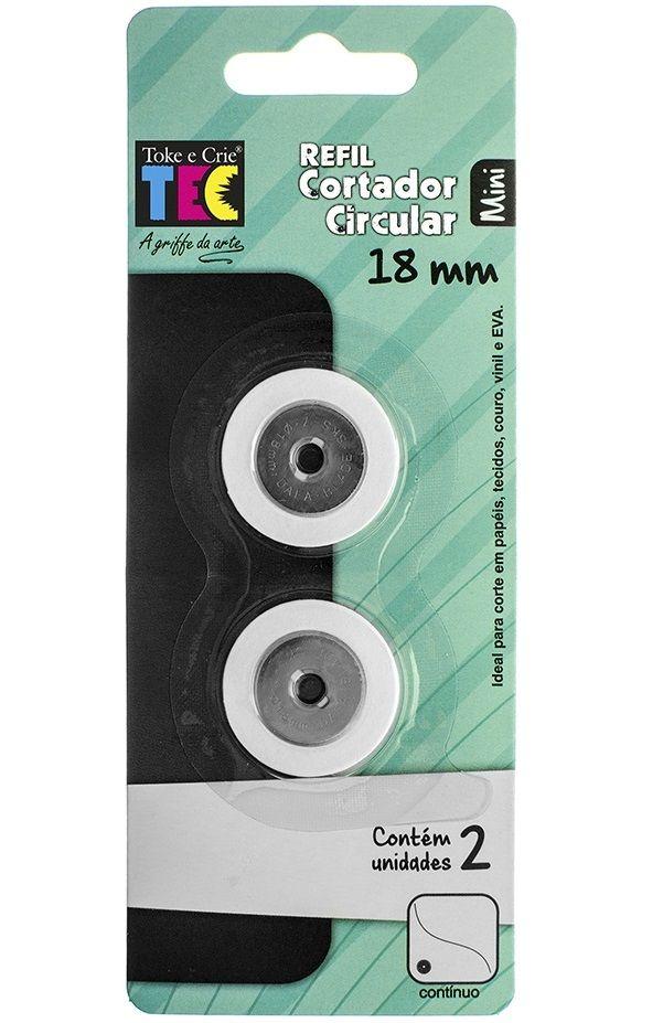 Refil para Cortador Circular Mini 18mm - 2 Unidades  - Minas Midias