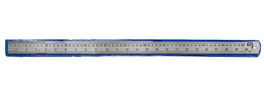 Régua de Metal - aço inoxidável - 60cm  - Minas Midias