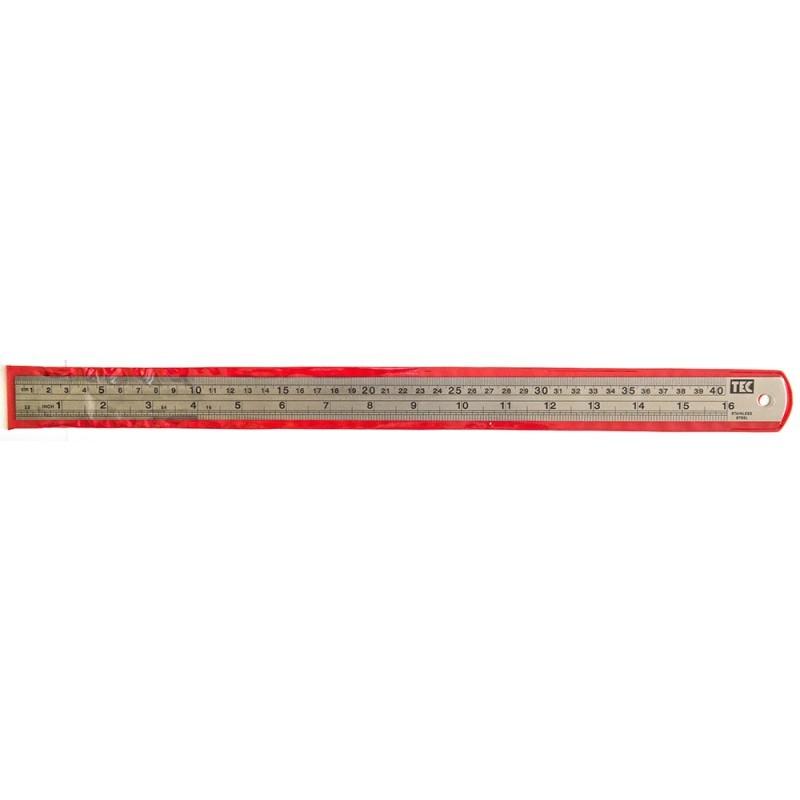 Régua de Metal - aço inoxidável - 40cm  - Minas Midias