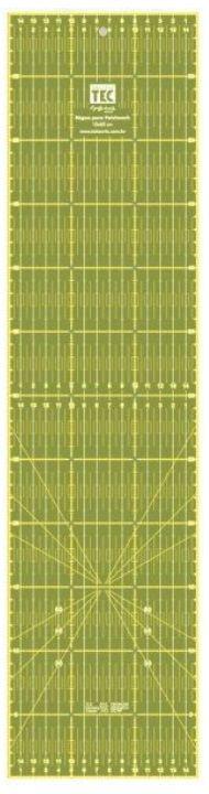 Régua para Patchwork Anti-derrapante 15 X 60cm  - Minas Midias