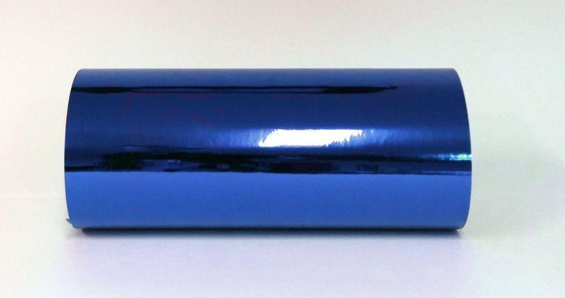Rolo de Adesivo Starfix Cromado Azul  - Minas Midias