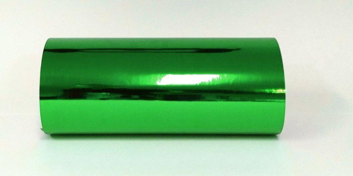 Rolo de Adesivo Starfix Cromado Verde  - Minas Midias