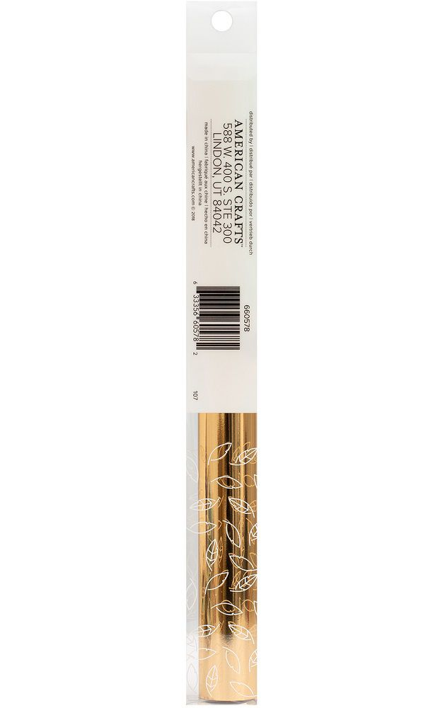 Rolo de Foil 30,5 X 240cm Dourado - Foil Roll Gold WeR  - Minas Midias