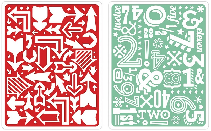 Placa de Textura - Embossing Folder - Arrows & Numbers Set by Lori Whitlock  - Minas Midias