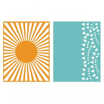 Placa de Textura - LC Embossing Folder Celebrate  - Minas Midias