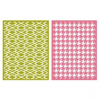 Placa de Textura - LC Embossing Folder Classic  - Minas Midias